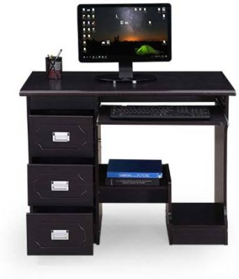 RoyalOak Amber Engineered Wood Computer Desk(Modular, Finish Color - Black)