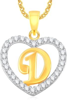 "Divastri \"" R \"" Letter Alphabet Necklace Pendants Chain Heart Pendant for Girls Boys Women Mens Valentine Gift Silver, Gold-plated Cubic Zirconia, Diamond Alloy, Stone Pendant"