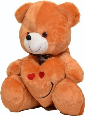 DSD Cute Brown Teddy Bear with Love Heart Smiley 40CM   40 cm Brown DSD Soft Toys
