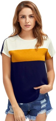 Zombom Casual Short Sleeve Striped Women