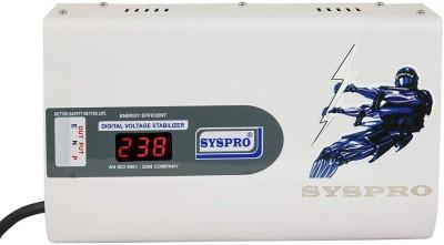 Syspro 4 KVA Digital Voltage Stabilizer for AC  1.5/Ton   160 V  300 V  White