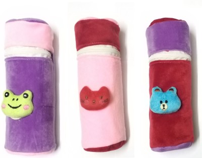 STOCKHAWKERS fine quality suede velvet baby feeding bottle covers combo(Multicolor)