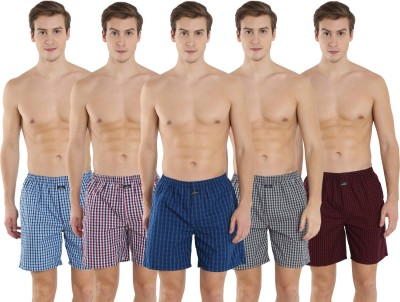 Jockey Checkered Men Boxer(Pack of 5) at flipkart