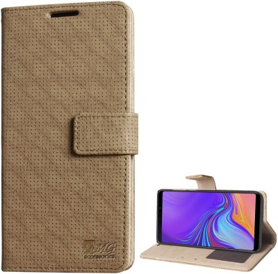 DMG Flip Cover for Samsung Galaxy A9 2018(Brown, Dual Protection)