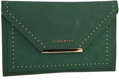 Chemistry Casual Green  Clutch at flipkart