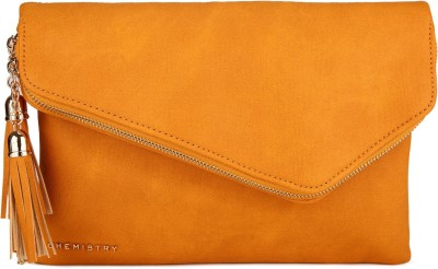 Chemistry Casual Yellow  Clutch at flipkart