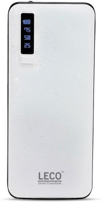 Leco 20000 Power Bank (LECO20KW, 20000mAh power bank with 2.1 amp fast charging)(White, Lithium-ion) at flipkart