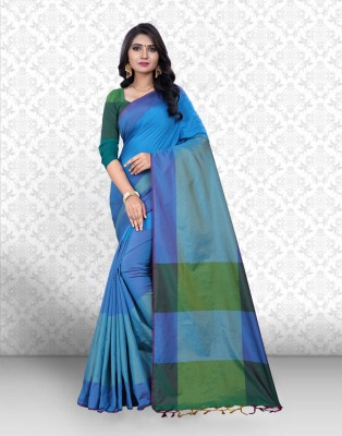Divastri Striped Banarasi Silk Saree(Light Blue)