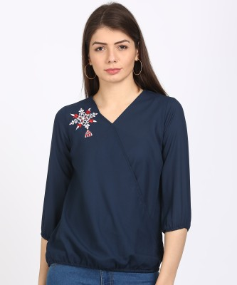Style Quotient Casual 3/4th Sleeve Embroidered Women