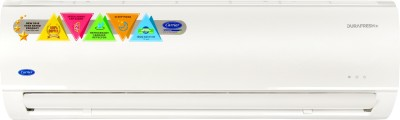View Carrier 1.5 Ton 3 Star Split AC  - White(Durafresh CAI18DF3N8F0, Copper Condenser)  Price Online