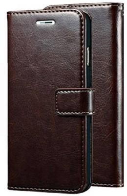 Krofty Flip Cover for Samsung Galaxy J7 Prime(Brown, Hard Case)