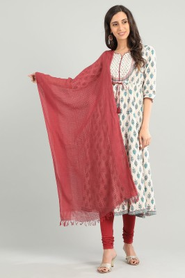 Aurelia Cotton Blend Checkered Women Dupatta at flipkart