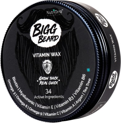 NutriOrro Bigg Beard Wax - Enriched With Argan, Avocado, Tea Tree, Rosehip, Moringa And 5 Other Essential Oils Hair Wax(50 g)
