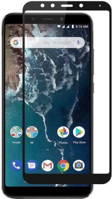 Oye Stuff Edge To Edge Tempered Glass for Mi A2(Pack of 1)
