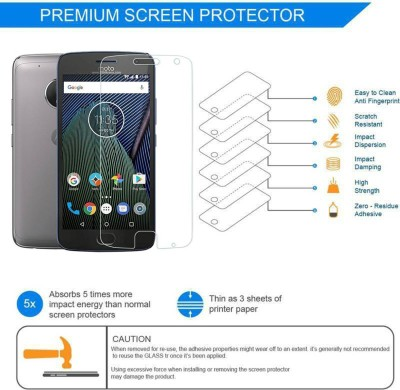 BlackBug Tempered Glass Guard for MOTO G5 SCREEN PROTECTOR,SCREEN GUARD (CLEAR HD) 0.3MM,2.5D(Pack of 1)