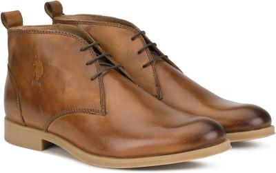 U.S. Polo Assn POITEVIN Boots For Men(Tan)