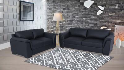 Muebles Casa Thar Leatherette 3 + 2 Black Sofa Set