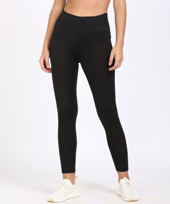 Sugr Solid Women's Black Tights