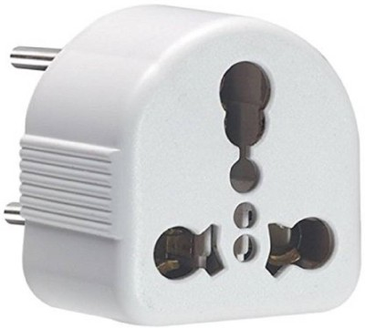 Trendmakerz Universal Conversion Plug 3 Pin Socket Worldwide Adaptor White