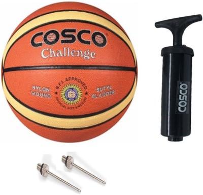 COSCO Challenge Basketball With Basketball Ball Pump Basketball   Size: 5 Pack of 2, Orange COSCO Basketballs