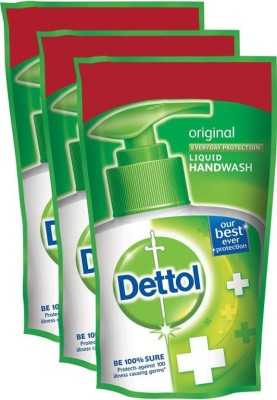 Dettol Original Liquid Hand Wash Refill(525 ml, Pouch, Pack of 3)