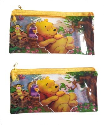 Feel Alive Winnie the Pooh Winnie the Pooh Art Plastic Pencil Boxes(Set of 2, Multicolor)