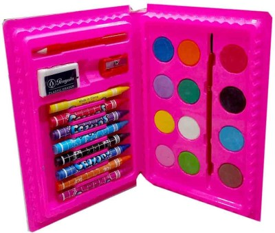 Shoppernation 24 Colors Set Crayons Water Colors Coloring Set Return Gift Set