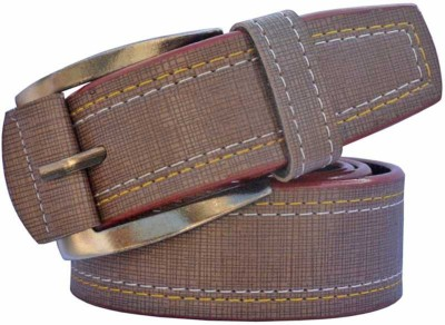 Cyclone Men Casual Brown Artificial Leather Belt