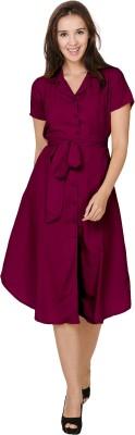 Crease & Clips Women's Shirt Purple Dress