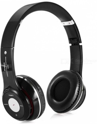 Buy Genuine Rich Bass Super HD Clarity SH-12 with SD Card/ FM/ Aux Bluetooth Headset with Mic(Black, On the Ear)