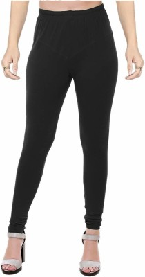 Ziva Fashion Churidar  Legging(Black, Solid)