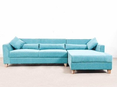 sunny designer sofas Fabric 3 Seater Sofa(Finish Color - Blue)