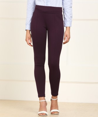 Van Heusen Regular Fit Women Maroon Trousers