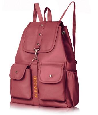 MUSRAT PU Leather Backpack School Bag Student Backpack Women Travel bag 10 L Backpack 10 L Backpack(Maroon)
