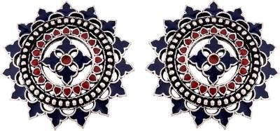 Voylla Mandla Enamel Embellished Earrings Brass Stud Earring Voylla Earrings