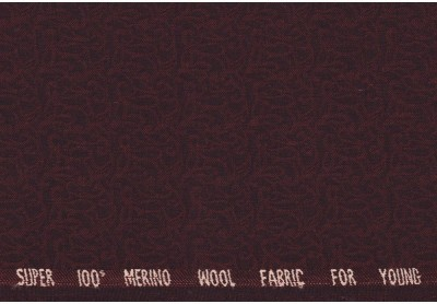 J. HAMPSTEAD Pure Wool Solid Trouser Fabric(Unstitched)