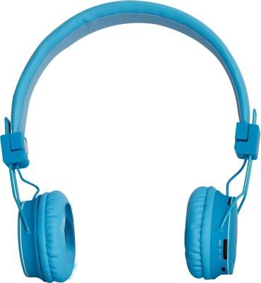 HM Enterprises TM-015 Wireless Bluetooth Headset Bluetooth Headset with Mic(Blue, Over the Ear)