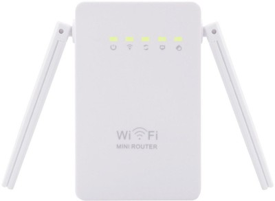 Pratham 300Mbps 802.11 Dual Antennas Wireless WiFi Range Repeater Booster Router(White)  available at flipkart for Rs.2999