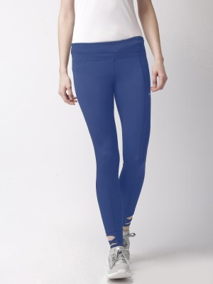 2GO Solid Women Dark Blue Tights at flipkart