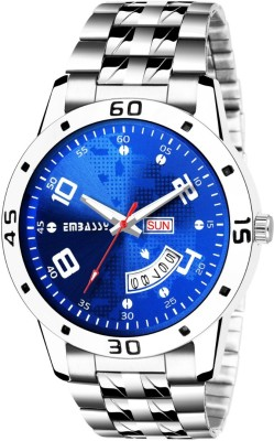 Embassy Shining Blue Dial Watch For Boys Day And Date Series Hybrid Smartwatch Watch  - For Men