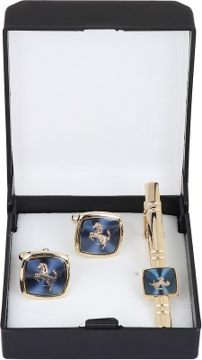 Paranoid Brass Cufflink & Tie Pin Set(Gold)