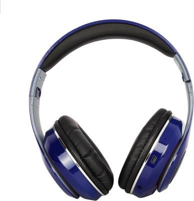 HM Enterprises TM-032 Wireless Bluetooth Headset With Led Light Bluetooth Headset with Mic(Blue, Over the Ear)