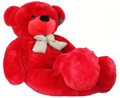 itaCheeHUB 4 feet Big Soft cute bootsy Hugable and Lovable Teddy Bear for Gift to girlfriend boyfriend family boys girls sister Valentine day gift  - 122 cm(Red)