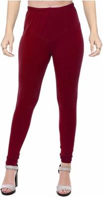 Ziva Fashion Churidar  Legging(Brown, Solid)