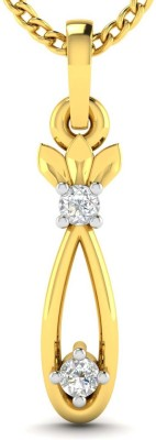 Avsar amta 18kt Diamond Yellow Gold Pendant Avsar Pendants   Lockets