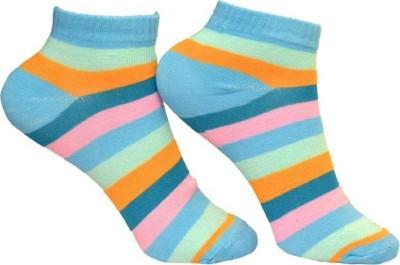 kiyo Women Striped Ankle Length kiyo Men's and Women's Socks