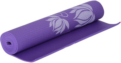 HOUZIE Yoga Mat -6 MM - with Cover -Textured Pattern - Anti Skid Both Side Purple 6 mm Yoga Mat