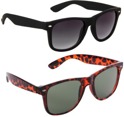 Gansta Wayfarer Sunglasses(Green, Black)