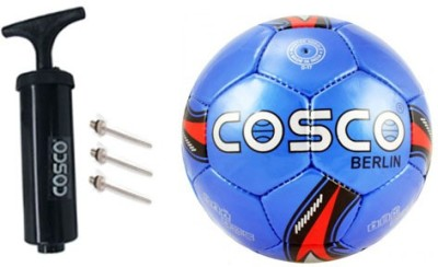 Cosco Football with Ball Pump Football - Size: 5(Pack of 2, Yellow)