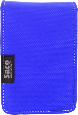 Saco Dual Hard Disk Drive Case Cover with Two Capacity Wallet for 2.5 inch External Hard Disk Drive(For Seagate, Sony, HP, WD Passport External Hard drives Upto 2 TB, Blue)